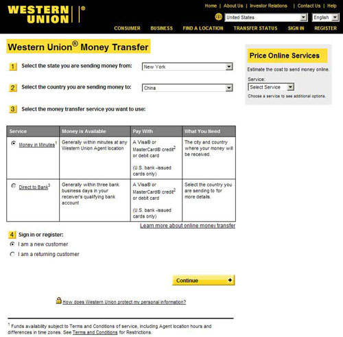 Tracking Number Western Union