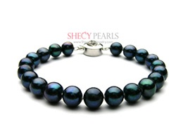Black Cultured Freshwater Pearl Bracelet