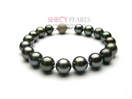 Black Cultured Tahitian Pearl Bracelet