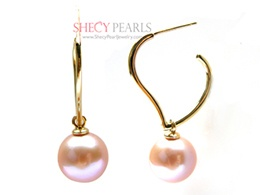 Lavender Cultured Freshwater Pearl Earring