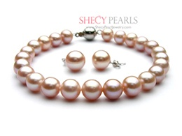 Pink Cultured Freshwater Pearl Jewelry Set