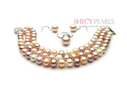 Multicolor Cultured Freshwater Pearl Jewelry Set