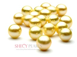 Golden Cultured Akoya Pearl Loose Pearl