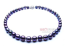 Black Cultured Freshwater Pearl Necklace