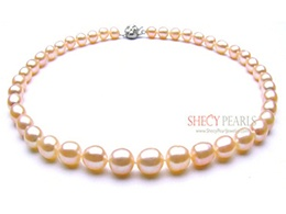 Pink Cultured Freshwater Pearl Necklace