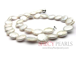 White Cultured Freshwater Pearl Necklace