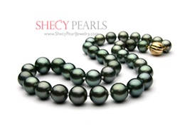 Black Cultured Tahitian Pearl Necklace