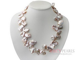 Pink Cultured Freshwater Pearl Necklace , 6.0mm-7.0mm , A+