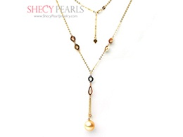 Golden Cultured South Sea Pearl Necklace