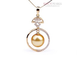 Golden Cultured South Sea Pearl Pendant