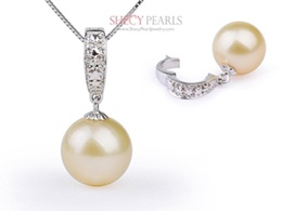 Golden Cultured Akoya Pearl Pendant