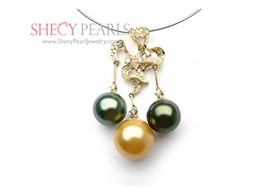 Multicolor Cultured South Sea Pearl Pendant