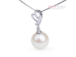 White Cultured Freshwater Pearl Pendant