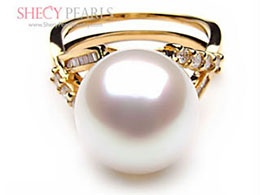 White Cultured South Sea Pearl Ring