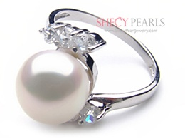 White Cultured Freshwater Pearl Ring