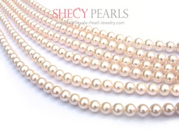 White Cultured Freshwater Pearl Strand Pearls