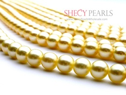 Golden Cultured Akoya Pearl Strand Pearls